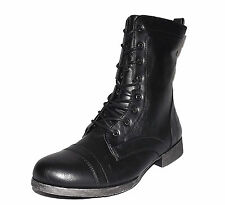 Womens Black Forever Rosalie-32 mid calf riding Boots Combat Motorcycle all size