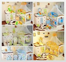 EXCLUSIVE 9 Piece Baby Nursery Bedding Set To Fit Cot / Cot Bed / 33 disigns
