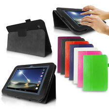"""LUXFOLIO STAND LEATHER CASE WALLET FOR TESCO HUDL 7"""" ANDROID TABLET FREE STYLUS"""