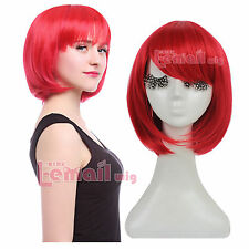 Free Shipping Lolita Short Straight Synthetic Women Cosplay Bob Wig Multi-color
