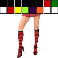 Sexy Opaque Striped Knee Hi Nylon Stockings High Trouser Socks Hosiery Halloween