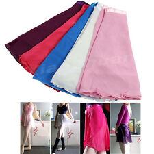Women Girl Chiffon Dancewear Ballet Tutu Dance Skirt Skate Wrap Scarf 5Color