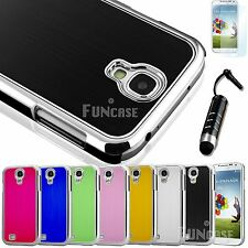 Luxury Brushed Aluminum Plastic Chrome Hard Case Cover For SAMSUNG GALAXY S4 IV