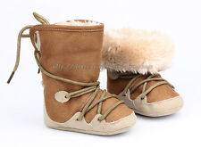 Toddler Baby Girls Boys Snow Boots Winter Crib Shoes Size Newborn to 18 Months