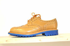 Mark McNairy Wax almond Country Brogue Shoes made in the uk commando sole