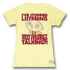 Family Guy Stewie Stop Listening Licensed Junior Shirt S-XL