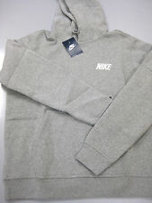 NIKE MENS CLUB HOODY Dark Grey Heather/White -545179 063-