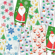 Christmas Favour Loot Gift Treat Cello Plastic Party Bags All In One Listing