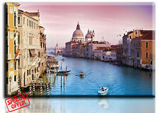 Wall Art Canvas Picture Print of Venice Italy Framed Ready to Hang