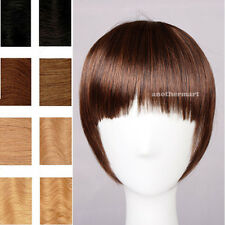 clip in on bangs fringes Hair Extensions extension black brown girl favored FO1
