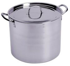 CONCORD Stainless Steel Stockpot w/ Steamer Brew Kettle Avail 60,80,100,120 Qt