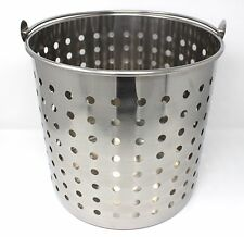 CONCORD Large Stainless Steel Stock Pot Steamer Fry Boil Basket Avail 40,60,80qt