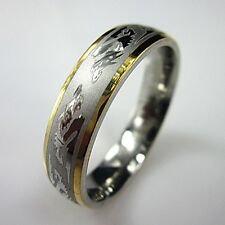 316L Stainless Steel Dragon Pattern Ring Men's Finger