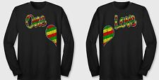 ONE LOVE Gay Lesbian equal Rights same Couples Matching Black Long Sleeve Tees