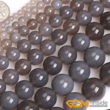 """Natural Smooth Gray  Agate beads Jewelry Making loose gemstone beads strand 15"""""""