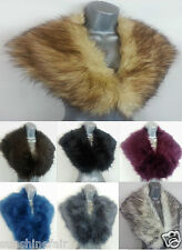 New Ladies Fluffy Faux Fur Pashmina Stole Scarf Shawl Collar Winter Wedding