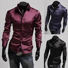 New 2014 Collection Mens Sexy Formal Casual Slim-Fit Dress Shirt-All Styles