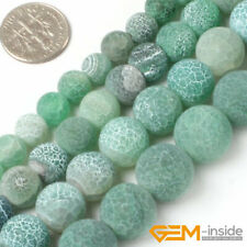 Natural Round Frost Green Agate Jewelry Making Loose gemstone beads strand 15""