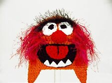 Animal Earflap Hat Muppets, Red and Orange, Knit / Crochet Laplander baby-adult