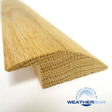 Solid Wood Ramp Profile Flooring Threshold, Profile, Door Bar, Lacquered or Raw