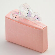 Luxury Italian Silk Cake Slice favour boxes ~  Wedding and Party Favours