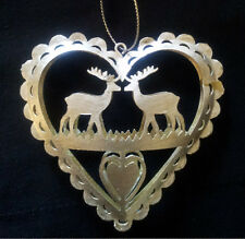 Silver Reindeer Angel Shabby Chic Xmas Tree Hanging Heart Decorations Sass Belle