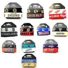 NHL RUBBER WRIST BAND SET 2 PACK DESIGN BRACELET SILICONE JEWELRY PICK YOUR TEAM