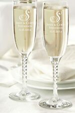 NEW! WEDDING OR SPECIAL OCCASION CLEAR TOASTING GLASSES-CAN BE PERSONALIZED!