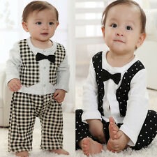 Baby Boy Clothes Special CHRISTMAS Dancy Party Formal Tuxedo Boys Romper Suit
