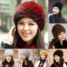 HOT SALE FOR winter Real mink fur hat Beanie ski hat cap head warmer headgear