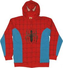 Spiderman Costume With Mask Spider-man Marvel Licensed Zip Up Hoodie S-2XL