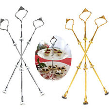 1/5 Sets 2 or 3 Tier Cake Plate Stand Handle Crown Fitting Metal Wedding Party
