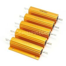 100W Watt Wirewound Resistor Shell Power Aluminum Housed Case Chassis Mounted