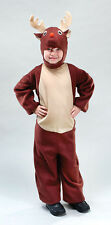 REINDEER FANCY DRESS COSTUME - AGE 4 5 6 7 8 9 10 11 12 - RUDOLPH XMAS CHRISTMAS