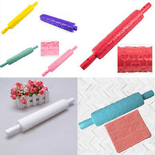 Cake Fondant Rolling Pin Paste Embossing Sugarcraft Decorating Mold Mould Tool