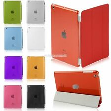 For iPad Mini  Crystal Clear Hard PC Back Case Compatible w/ Stand Smart Cover F