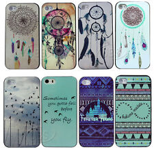 Retro Infinity Feather Dream Catcher Forever Young Hard Case for iphone  4S 5 5S
