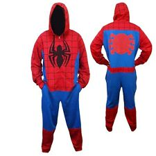 Spider-Man Jumper Marvel Comics Adult Licensed One Piece Hooded Pajama S-XXL
