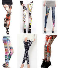 Fashion Womens Stretchy Tights Pencil Skinny Sexy Punk Funky Pants Hot