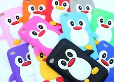 For iPod Touch 4th Gen - Soft Silicone Rubber Skin Case Cover Penguin Accessory