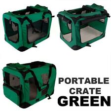 New Dog Pet Puppy Portable Foldable Soft Crate Playpen Kennel House Green-Option