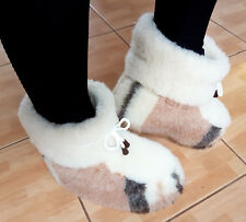 Slippers Boots 100 %Pure Sheep Wool Shoes, 2 3 4 5 6 7 8 9 10 11 12 13 14 mules