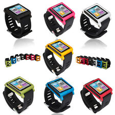 Multi Function Watchband Wristband for iPod Nano 6 Aluminum Colors with Silicone