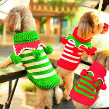 XMAS Pet Dog Wool Ball Turtleneck Sweater Knitted Winter Clothes одежды собаки