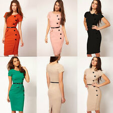 Women Ladies Dress Bodycon Slim Pencil Dress Evening Party Shift Sheath Dress