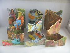 Vintage Butterfly, Mice, Fairies 5 Panel Pull Out Birthday Card You Choose