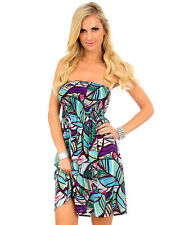 Strapless Printed Dress
