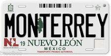 Nuevo Leon Monterrey  Mexico Aluminum Novelty Car License Plate C01