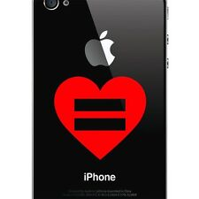 Marriage Equality Heart Decal, Gay and Lesbian Sticker for Car, iphone, Laptop