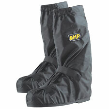 OMP Elasticated Rainproof Nylon Overshoes/Over Shoes For Kart/Go Kart/Karting